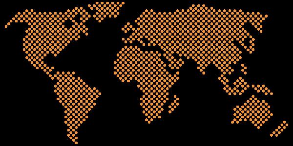 Pixel map orange point