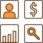 Icon Pricing Module Man Dollards Graphics Magnifying-Glass