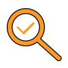 Magnifying-glass with Validation Traceability Audit-trail Risk-management Regulatory-requirements